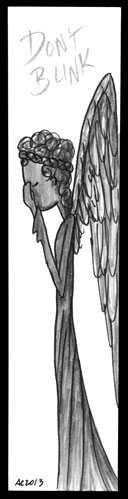 Weeping Angel Bookmark by Amy Crook
