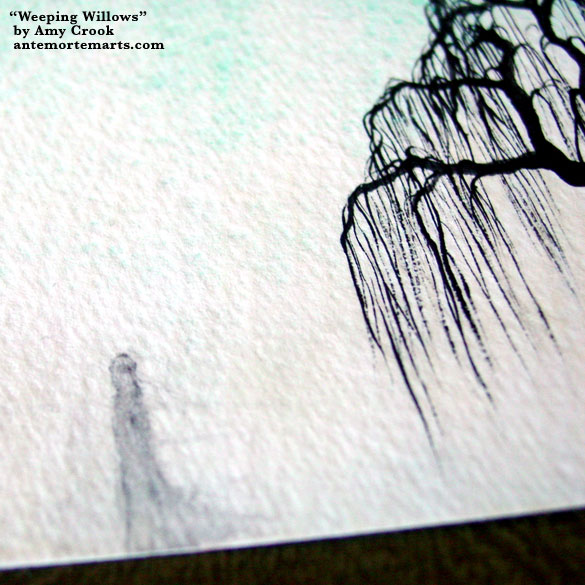 Weeping Willows, detail, by Amy Crook