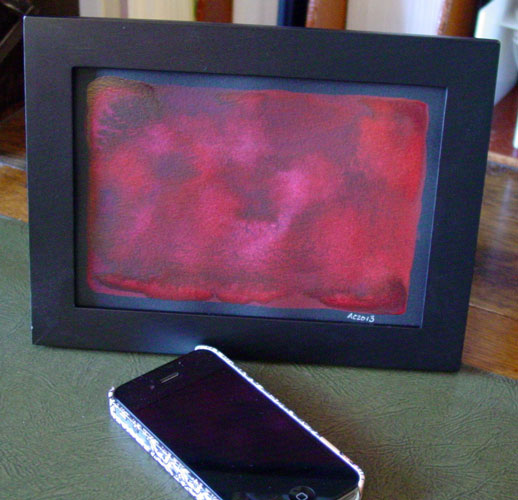 Red 3, framed art by Amy Crook