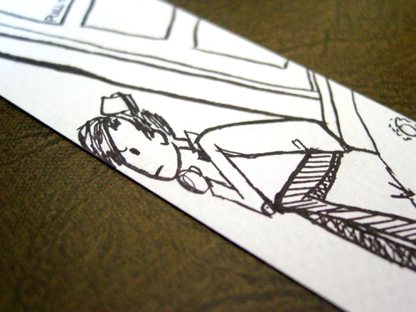 Doctor Who Bookmark 1, detail, by Amy Crook
