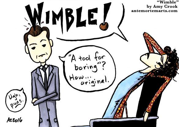 Wimble, a Sherlock parody comic by Amy Crook