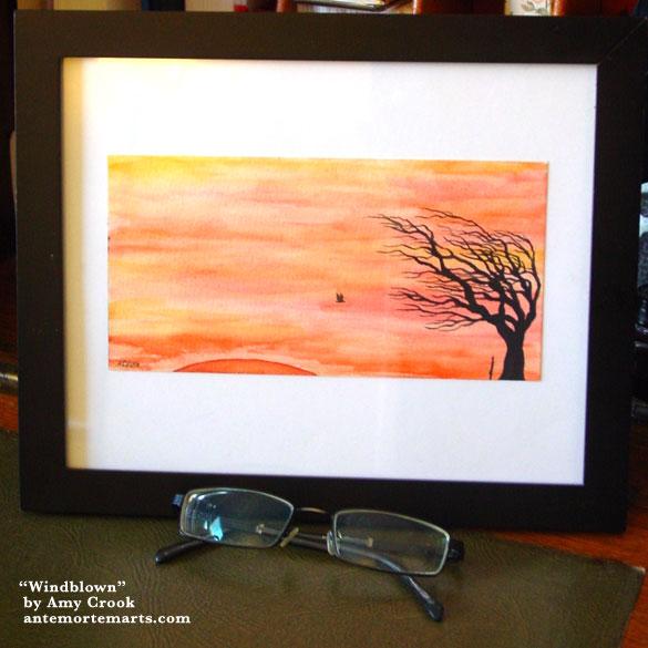 Windblown, framed art by Amy Crook