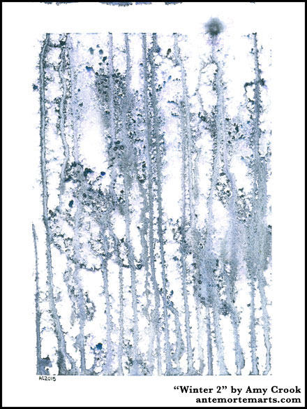 Winter 2, abstract art by Amy Crook