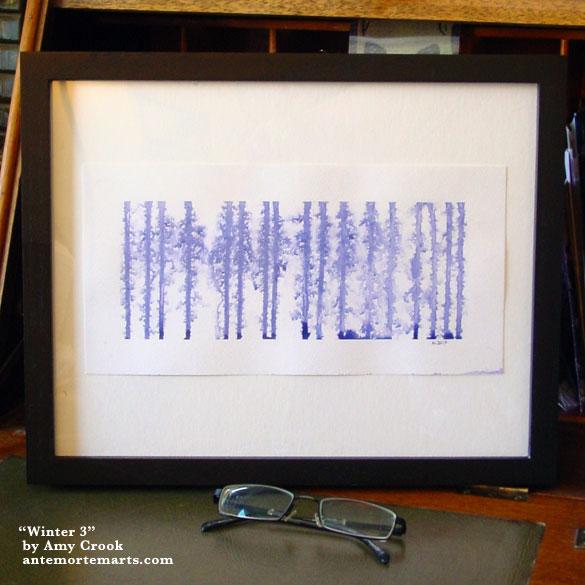 Winter 3, framed art by Amy Crook