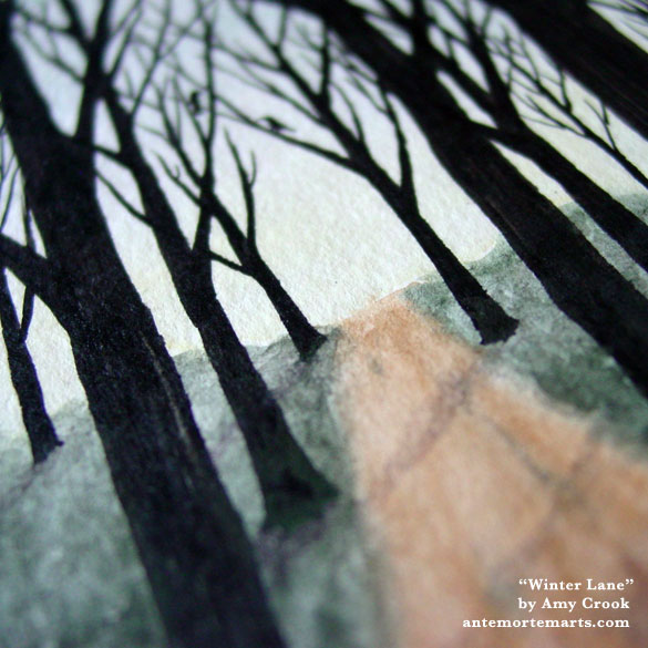 Winter Lane, detail, by Amy Crook