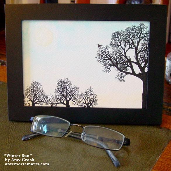 Winter Sun, framed art by Amy Crook