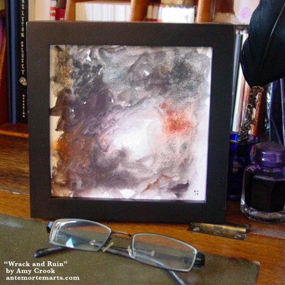 Wrack and Ruin, framed art by Amy Crook