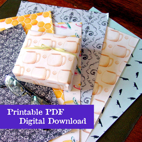 Gift Wrap printable by Amy Crook on Etsy