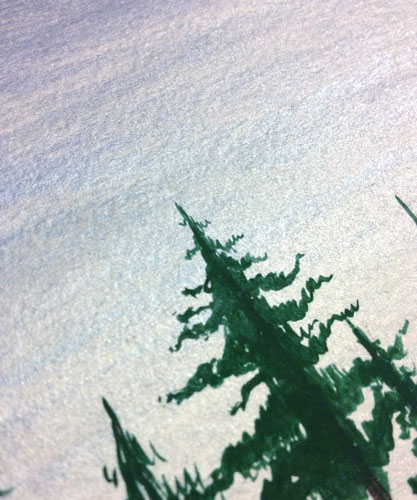 Christmas Dusk, detail, by Amy Crook