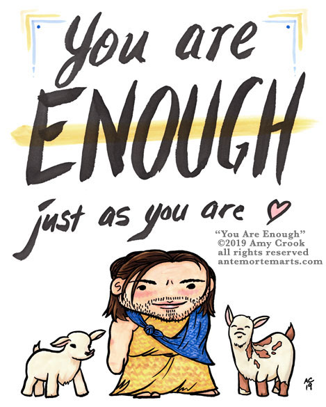 soft goat farmer Bucky knows you are enough just as you are
