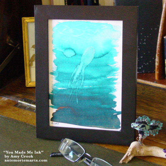 You Made Me Ink, framed art by Amy Crook
