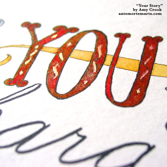 Your Story, detail, by Amy Crook
